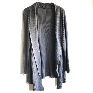 Apt. 9 Waffle Knit Duster Sweater Gray Size 1X